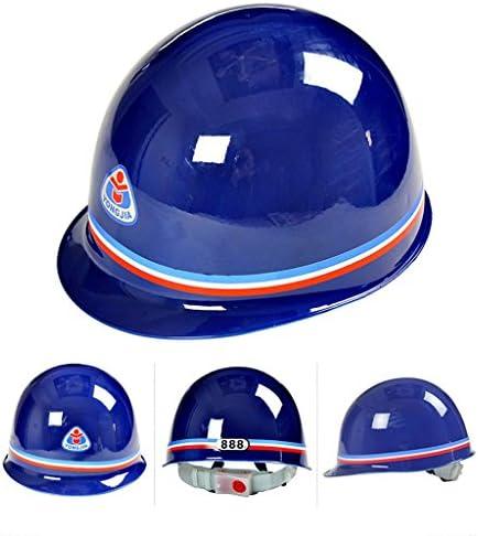 ヘッド保護 建設ヘルメット - キャップスタイルのハードハット調整可能なラチェット6 Ptサスペンションハード非換気ハット調節可能なヘルメットABSエンジニアリングヘルメ 作業安全装置 (色 : 白)