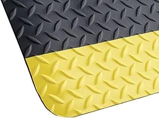 product image for Antifatigue Runner, Black, YllwBrdr, 3x10ft
