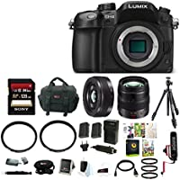 Panasonic LUMIX 16MP Mirrorless Digital Camera (Body Only) with 12-35mm & 20mm Lenses & Focus Bundle