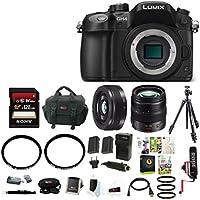 Panasonic LUMIX 16MP Mirrorless Digital Camera (Body Only) with 12-35mm & 20mm Lenses & Focus Bundle