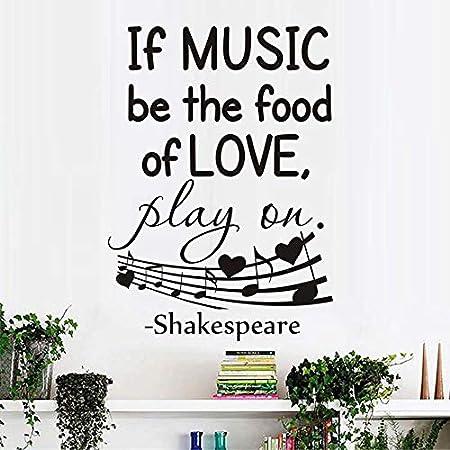 tzxdbh If Music Be The Food of Love Tatuajes de Pared Decorativos ...