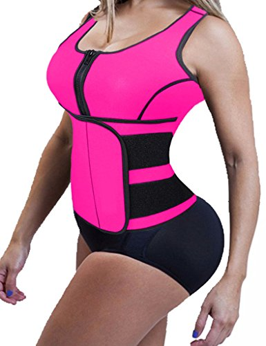 Abdominal+Machine Products : Lelinta Women's Slimming Neoprene Sauna Suit Tank Top Vest with Adjustable Waist Trimmer Belt Hot Sweat Shirt