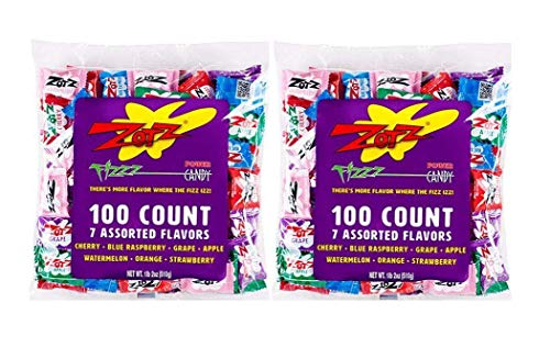 Zotz Fizzy Candy, Assorted Flavors, 200 Count – PACK OF 4