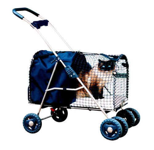 Kittywalk Fifth Avenue Pet Stroller, For Pets Up to 25 Pounds, Blue by Kittywalk Systems Inc