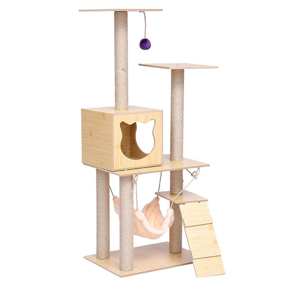 A MIAOMAO Cat Tree Cat Climbing Tree Multi-layer Cat Tree Hammock, Cat Toys Basket And Apartment, Kitten, Cat And Pet Activity Center (Design   A)