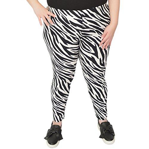 (Stretch is Comfort Women's Plus Size Print Leggings Zebra 3X)