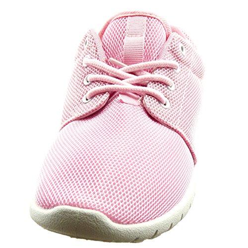 Sopily - damen Mode Schuhe Sneaker - Rosa