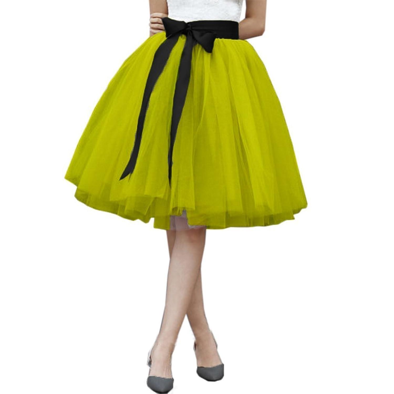 2a7e69acf5 Malinsa American Apparel Tulle Skirt 7 Layers Midi Elastic Belt Tutu Skirts  at Amazon Women s Clothing store