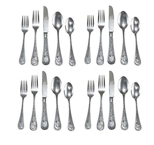 Pinecone Tableware - River's Edge 20 Pc Outdoor Ss' Flatware Set 1928