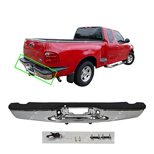 MBI AUTO - Chrome, Steel Rear Step Bumper Assembly for 1997-2004 Ford F150 Pickup 97-04, FO1103103 ()