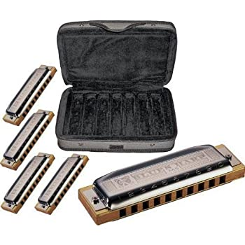 Hohner COB Case of Blues 5 Harmonica Bundle - Keys of G, A, C, D, & E
