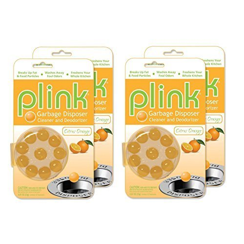 Freshen Garbage Disposal - Compac's Plink Garbage Disposal Cleaner & Deodorizer Infuses and Freshens Your Entire Kitchen With 4 Crisp, Clean, Exciting Scents-Waste Disposal Cleaner Orange, 80 Count by Compac