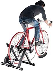Sibosen Bike Trainer Stand Steel Bicycle Exercise Magnetic Stand Stationary Workout Trainer Stand Bike Resista