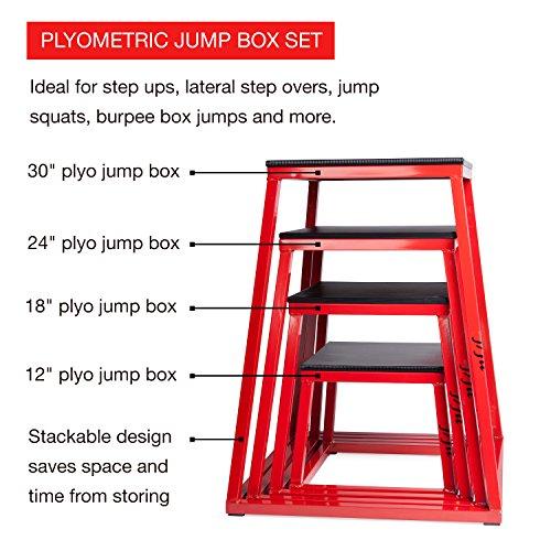 j/fit Plyometric Jump Box Set of 4-12