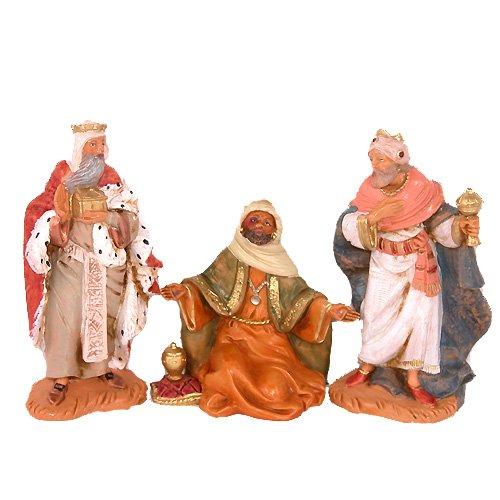 Three Kings Figurine Set (Fontanini by Roman Kings Nativity Set, 3-Piece, 5-Inch Each)