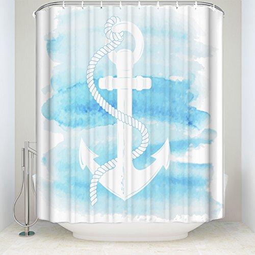 "Wholesale KAROLA Shower Curtain Bathroom Decor Shower Curtain 54"" x 72"" Watercolor Anchor"