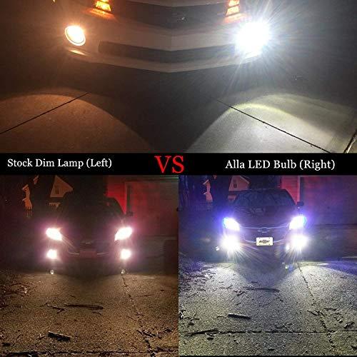 Alla Lighting 2504 PSX24W LED Fog Light Bulbs Super Bright PSX24W LED Bulb High Power 50W 12V LED PSX24W Bulb for 12276 2504 PSX24W Fog Light Bulbs Replacement, 6000K Xenon White (Set of 2) by Alla Lighting (Image #2)