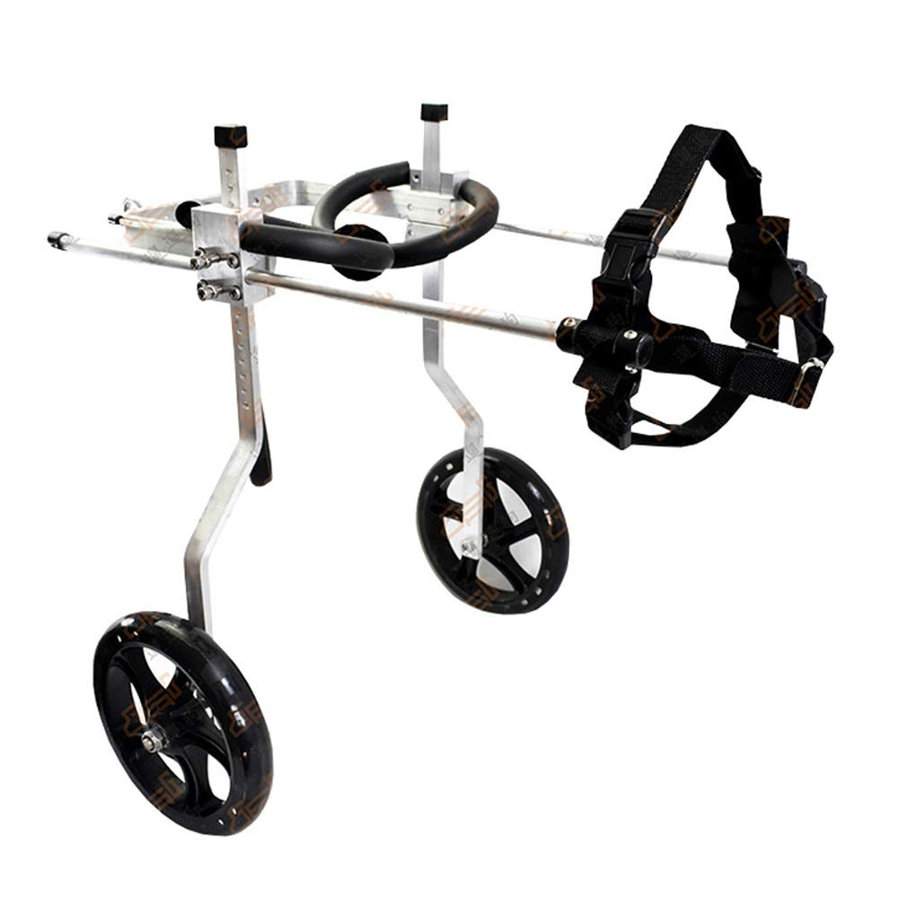 Back height 40-51CM Dog Wheelchair, Adjustable Hind Leg Rehabilitation Exercise Pet Scooter Disability Assist Support Bracket for Medium Large Dog (L) (Size   Back Height 40-51CM)
