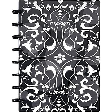 Staples Arc Customizable Flower Circle Design Notebook System, Black & White, 6-3/8' x (Disc System)