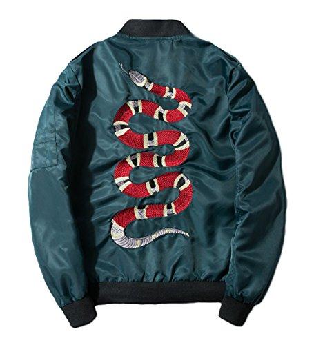 Embroidered Letterman Jacket - 7