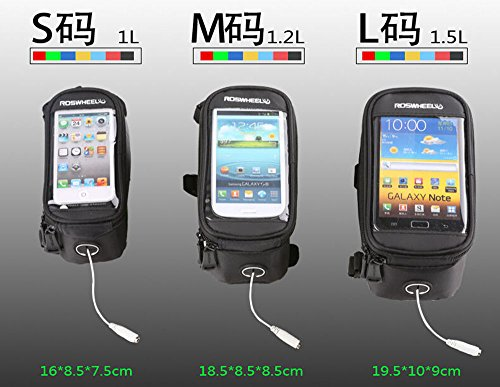 Cycling Homieco Bike Front Storage Bag Waterproof 6.0 Touch Screen Bicycle Handlebar Cellphone Mount Phone Holder