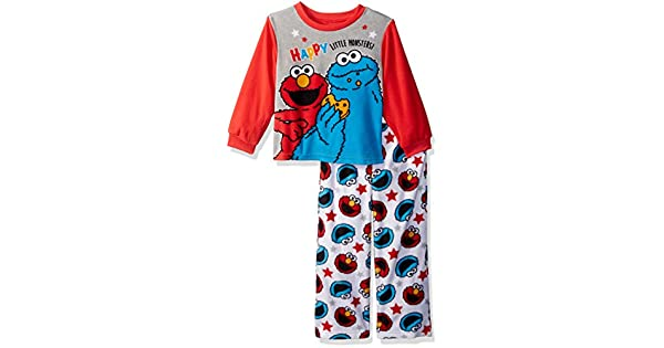 571041cd7 Sesame Street Boys Toddler Elmo and Cookie Monster 2-Piece Pajama ...