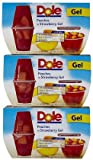 Dole Fruit Bowls Diced Peaches In Strawberry Gel 17.2OZ (Pack of 12)