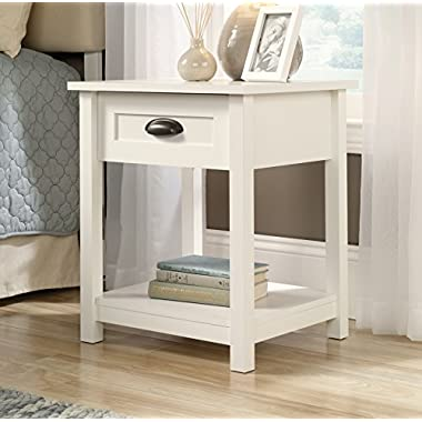 NEW Sauder Furniture 416977 County Line Collection Soft White Modern Nightstand