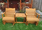 6' Cedar Settee Glider W/stained Finish, Amish Crafted