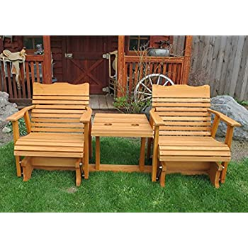 6u0027 Cedar Settee Glider W/stained Finish, Amish Crafted
