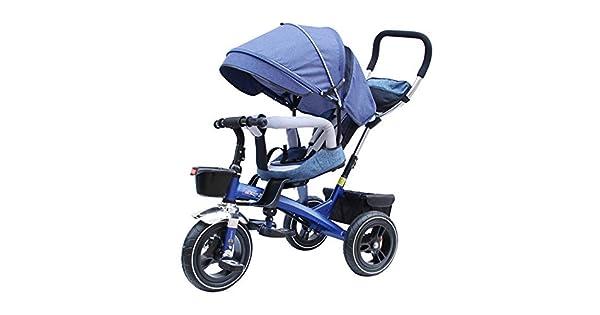 Amazon.com: Cochecito de triciclo, asiento giratorio para ...