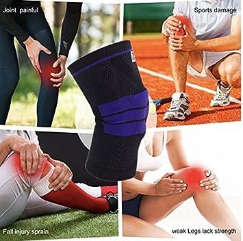 GripElite | Rodillera deportiva | Rodillera rotuliana y ligamentaria | Protección ideal para las carreras, el futbol, el tenis, la halterofilia, ...