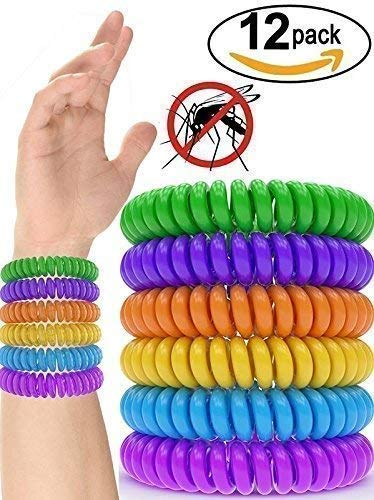 Bands Repellent Bug (12 Pack Mosquito Repellent Bracelet Band - [320Hrs] of Premium Pest Control Insect Bug Repeller - Natural Indoor/Outdoor Insects - Best Products with NO Spray for Men, Women, Kids, Children)