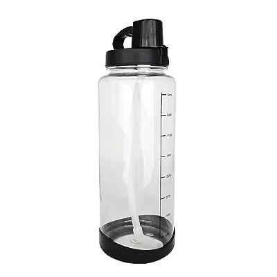 2l Sports Bouteille D'eau Avec Paille un Marqueur de Temps Motivant Bouteille d'eau Anti-fuite Bouteille à eau Réutilisable