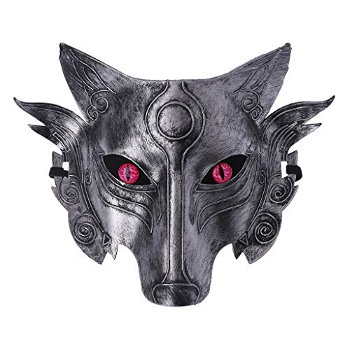 Junlinto Werewolf Wolf Mask Masquerade Cosplay Props Movie Theme Halloween Party Supplies-4 -