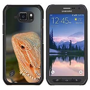 LECELL--Funda protectora / Cubierta / Piel For Samsung Galaxy S6Active Active G890A -- Lagarto Rojo Selva Tropical Naturaleza Animal --