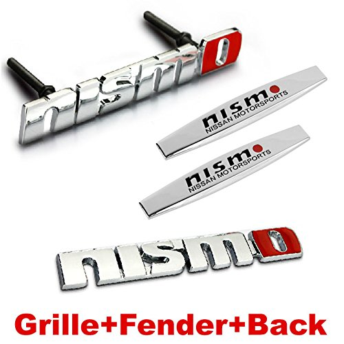 4pcs Sets AM86 NISMO Front Grille + Fender Side Sticker + Back Sticker Car Emblem Badge For NISSAN TIIDA LIVINA QASHQAI X-trail Altima SUNNY SYLPHY