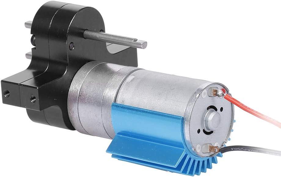 Ajcoflt Reemplazo para 1//12 MN-D90 FJ-45 Caja de Cambios Caja de Cambios de Metal 370 Motor Cepillado Cambio de Velocidad RC Piezas de autom/óviles