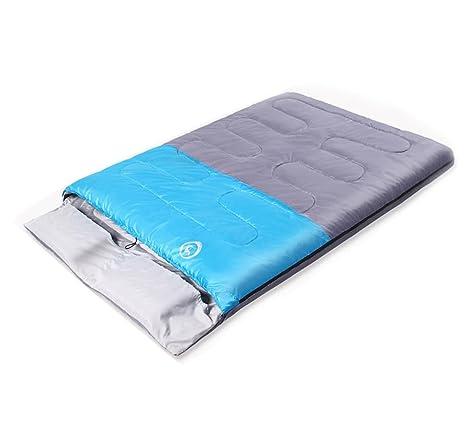 Doble saco de dormir de algodón ensanchado más grueso escala de temperatura de equipo de camping