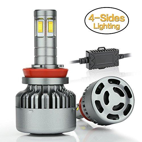 Zdatt 14000LM Super Bright H11 Led Headlights Bulb Conversion Kits 100W Error Free H8 H9 Fog Light Led Truck Bulb Replacement 6000K White - 2 Years Warranty
