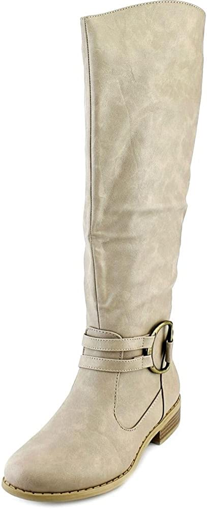 Grey Charming Tall Wide Calf Boots