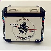 """Year 2017 2x GS R1200 Adventure Motorcycle Sticker Decal Kit """"Adventure"""" for Touratech Panniers Refelective Sticker GS650 GS800 GS1200 Aluminum Panniers R1200GS"""