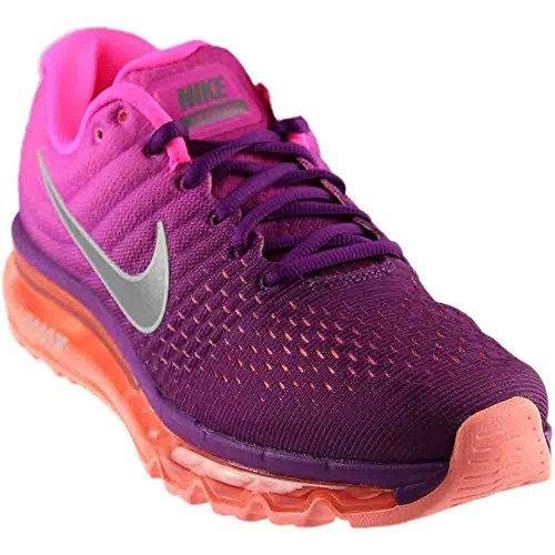 NIKE Womens Air Max 2017 Running Shoes Bright Grape/White/Pink Fire 849560-502 Size 10 (Purple Air)