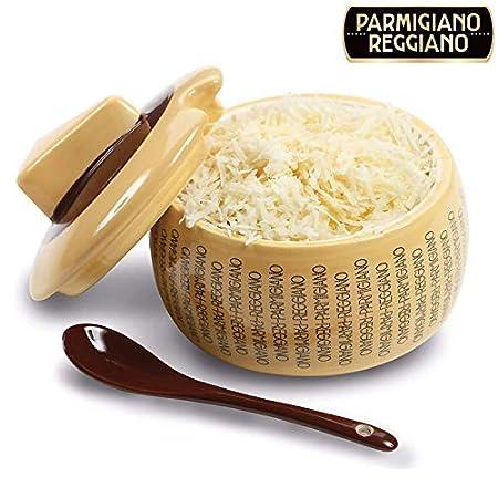 Quesera parmesano reggiano en cerámica grande con cucharilla para ...