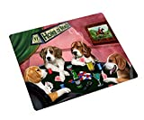 Beagle Tempered Cutting Board 4 Dogs Playing Poker
