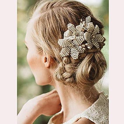 Amazon Com Lannmart Church Plait Gold Hair Accessories Handmade