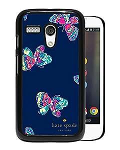 Beautiful DIY Designed Kate Spade Cover Case For Motorola Moto G Black Phone Case 54