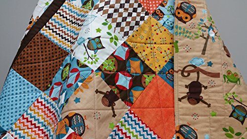 Safari Animals Baby Quilt by Now and Then Quilts