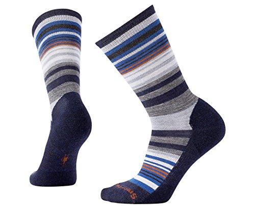 Smartwool Women's Jovian Stripe Socks (Deep Navy Heather/Cardamom) Medium