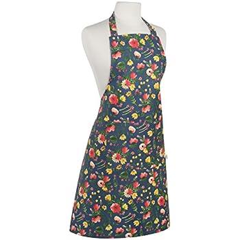 Now Designs Basic Cotton Kitchen Chef's Apron, Midnight Garden